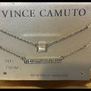 "Vince Camuto: Set of (2) 18"" Necklaces"